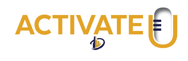 Activate U Podcast Logo - Light Gold w D